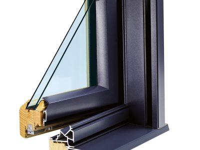 Fenêtre mixte bois-alu détails